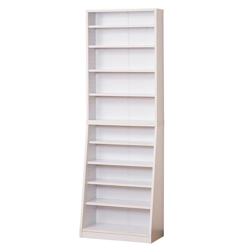コスチュームスマート肉屋クロシオ SOHO書棚 W60 ホワイト 幅60cm 高さ180cm コミック収納 A4本棚