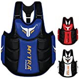Mytra Fusion Chest & Belly Protector Body Shield Body Armor Body Pad Body Protector Chest Ribs and Belly Protector for Boxing MMA Muay Thai Fitness Gym Workout (Blue Black)