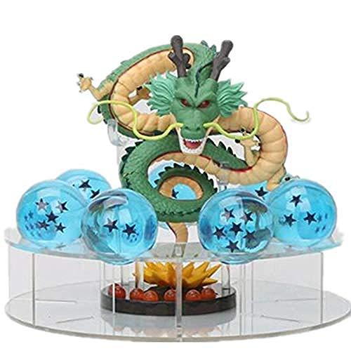 NoNo Dragonball Dragonballs Anime Figuren Dragonball Figur Dragonball Figuren Dragon Ball Actionfigur Shenron Kristallkugel PVC Set Dragon Ball Super Figur Modell Spielzeug Dragonball Shenlong
