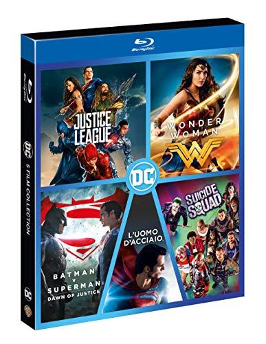Boxset Dc 5 Film (Justice League,Wonder Woman,Suicide Squad,L'Uomo D'Acciaio,Bat