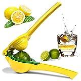 Spremi Limone Manuale, Spremiagrumi Manuale, 2 in 1 Lemon Juicer, per Limone, Arancia e Altri Frutti (Giallo)