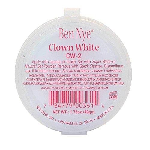 Ben Nye Clowns-Make-up weiße Gesichtsmaske – 49 Gramm