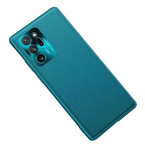 Luhuanx Note 20 Ultra - Funda para Samsung Galaxy Note 20 Ultra, 5G, piel de calidad con lente de metal, diseño trasero fino, para Galaxy Note 20 Ultra 5G, color verde