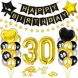 Globos 30 Cumpleaños,Decoración 30 Cumpleaños,Fiesta Cumpleaños 30,Globo de Cumpleaños 30,Globos de Cumpleaños Número 30,Cumpleaños Hombre 30,Kit 30 Cumpleaños Mujeres,Decoraciones Cumpleaños 19 Años