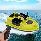 GYAM Barco de Cebo Inteligente, Barco de Caza de pez de cruceros de Velocidad Fija de 500 m de Larga Distancia con LED, Barco de Control Remoto de Gran Capacidad con Motores Dobles
