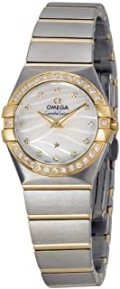 Constellation Mother of Pearl Dial Steel and Yellow Gold Diamond Ladies Watch 12325246055011