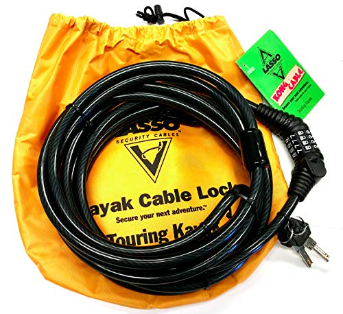 Lasso Kong Cable Kayak Lock for Closed Deck Touring Kayaks Product Name