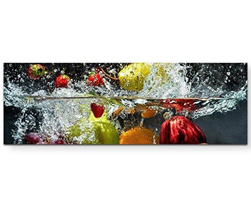 Paul Sinus Art - Stampa Artistica su Tela Frutta in Acqua, pronta da Appendere, 120 x 40 cm