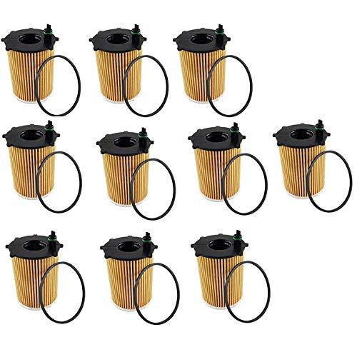 Senmubery Filtro de Aceite de 10 Piezas para DS3 DS4 Xsara Ecosport 5 407508 5008 Ranch