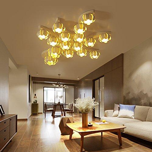lemumu La sala luminosa atmosfera minimalista soffitto lampada a luce calda romantica camera da letto personalità-lampada 8 testa 76*70cm tri-colore freddo reostato