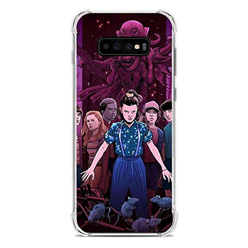 A-Legend Ultra Thin Coque Lightweight Anti-Skid Clear Soft Flexible Gel TPU Case Cover For Samsung Galaxy S10 Plus-Stranger-Things Eleven Joyce 9