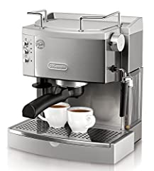 Pump driven and 15 bars Automatically self-primes; Water level indicator: Yes Use pods or ground coffee with the convenient patented filter holder. On/off switch- Yes Craft cappuccinos or lattes with the patented easy to use frothier 44 oz. and 1.3 l...