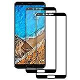 PUUDUU Cristal Templado para Huawei Honor View 10, [2 Piezas] Protector de Pantalla para Huawei Honor View 10, Vidrio Templado, [3D Cobertura Completa] [Sin Burbujas] [Anti-Scratches]