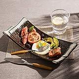 XUSHEN-HU Cerámica creativa estilo japonés cerámica restaurante sushi placa fruta postre placa hogar cerámica artesanía vintage