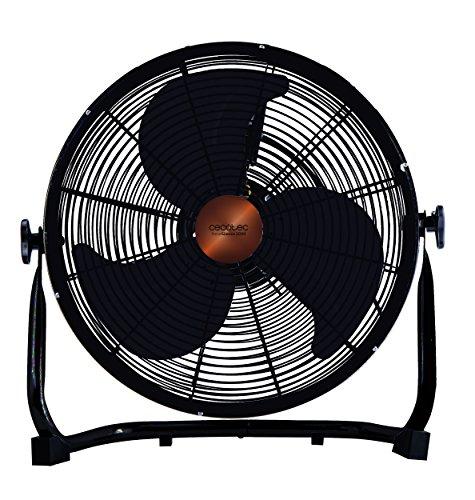 """Cecotec Ventilador Industrial EnergySilence 3000 Pro. 3 Aspas Met‡licas de 18"""" (45cm), 3 Velocidades, Motor de Cobre, Ajustable, Acabado Negro, 100W"""