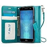 J&D Compatible pour Coque LG X Power 3, [Stand de Portefeuille] Etui Portefeuille de Protection...
