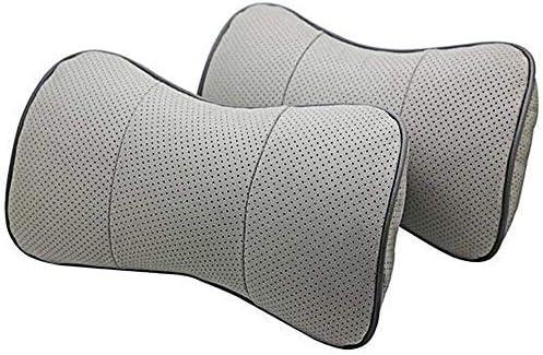 SZSS-CAR 2 ご予約品 Pcs Genuine Leather Bone-Shape Neck Car Rest Seat Hea ついに再販開始