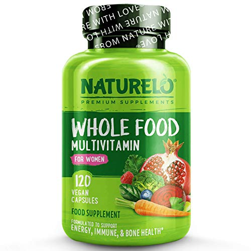 NATURELO Whole Food Multivitamin for Women - with Natural Vitamins,...