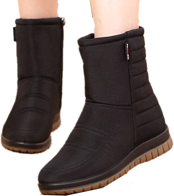 Edv0d2v266 Mens Snow Boots Women Winter Anti-Slip Ankle Booties Waterproof Slip On Warm Fur Lined Sneaker