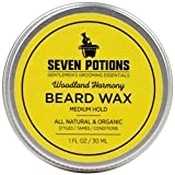 Seven Potions Beard Wax 1 oz. Natural And Organic Beard...