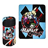 JPI Fleece Throw Blanket - Harley Quinn - Lightweight Faux Fur Fleece Blanket Large 50'x 60' - for Beds, Sofa, Couch, Picnic, Travel, Camping