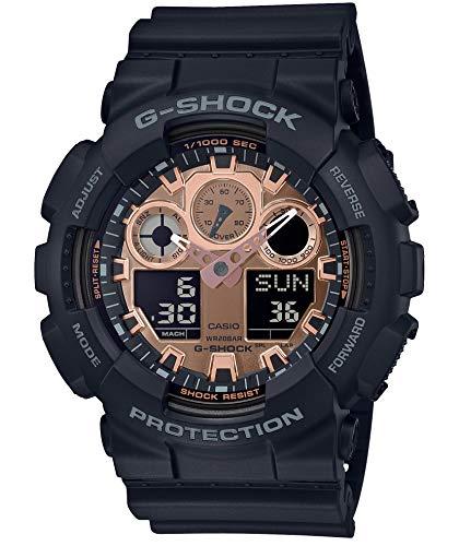 [カシオ] 腕時計 ジーショック BLACK&ROSE GOLD GA-100MMC-1AJF メンズ ブラック