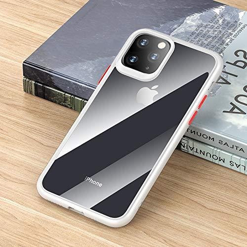 LWL House Guard Pro Series Funda Protectora de TPU + PC a Prueba de Golpes Case for iPhone 11 Pro Durable (Color : White)