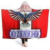 erjing Manta con Capucha 1-Nation United Manta con Capucha súper Suave 80'' x 60'' Capa para Adultos Capa Adecuada para Leer