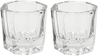 Karlash 2 Nail Art Acrylic Liquid Powder Dappen Dish Glass Crystal Cup Glassware Tools