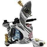 Kit de máquina de tatuaje, 2 pistolas, 40 colores, fuente de alimentación con 50 agujas