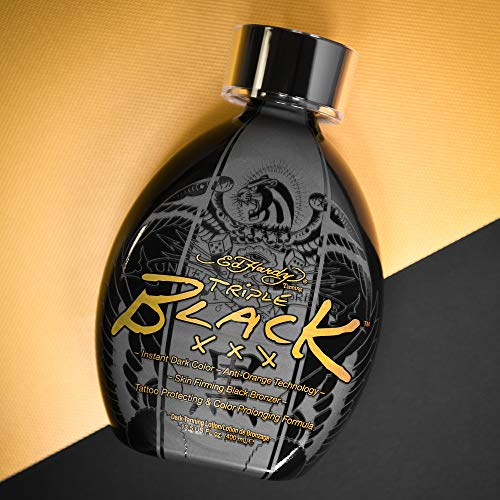 Ed Hardy BLACK XXX Instant Dark Color Tanning Lotion, 13.5 oz