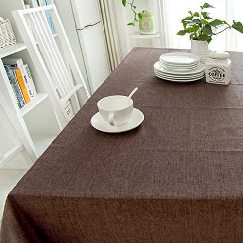 Nappe européenne Nappe Rectangulaire Couleur Unie - Nappe Coton/Nappe Rectangulaire Coton/Nappe Rectangulaire (Rectangulaire -130 * 400cm) (Couleur : F, taille : Rectangular - 90 * 130cm)