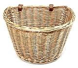 Choice Baskets Panier de Bicyclette rétro en Osier avec Courroies en Cuir Fabriqué...