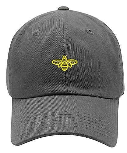 Bee Hat Cap-Grey