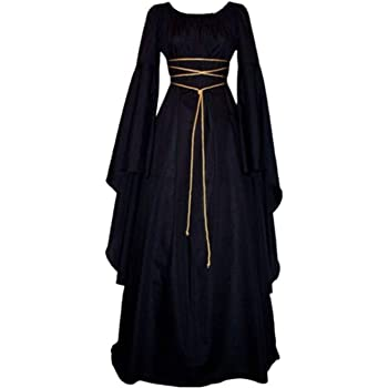 Lecoyeee Disfraz Medieval Traje Medieval para Mujer Traje Vintage ...