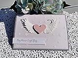 Trauerkarte für Sternenkinder geflügeltes Herz inkl. Umschlag, flieder