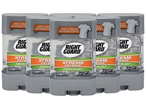 Right Guard Antiperspirant Deodorant Xtreme Gel Fresh Blast 3 Ounce (Pack of 6)