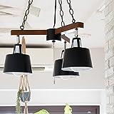 PROJECTS チェーンペンダントライト 3灯 BELLME(ベルミー) (リモコン・電球付属なし(本体のみ), ブラック)