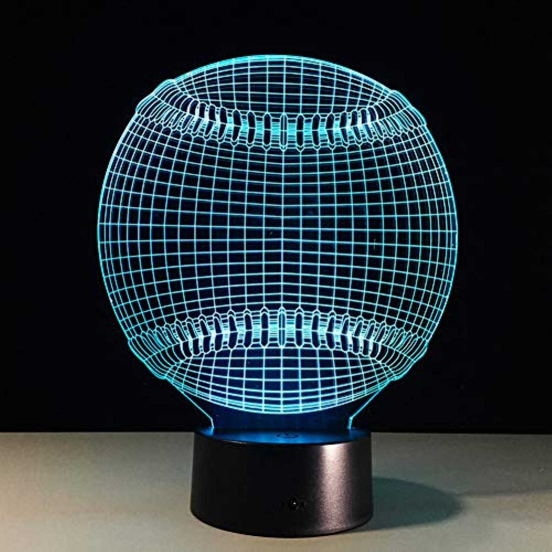 Laofan 3D Led Nachtlicht 7 Farbwechsel Nachtlampe Touch Switch USB Tischlampe Licht Geschenk,Fernbedienung