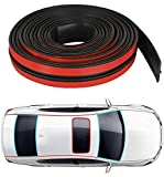 Hukimoyo Car Windshield Rubber Strip, car Gap Filler Strips, Self-Adhesive Waterproof Weather Strip Door Window Sound Insulation Sealing Tape (19 mm (1 Meter))