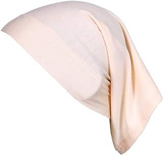 Yudesundo Fashion Women Accessories Scarves Wraps Head Scarves Cotton Plain Tube Hijab Bonnet Cap Suitable for Cancer Chem...