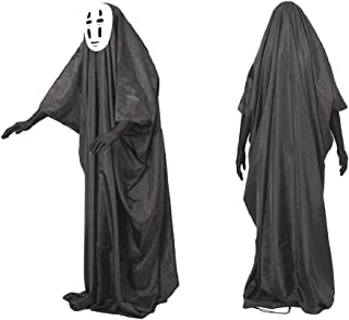 Spirited Away No Face Kaonashi Costume Set Black (Teen/Adult S-XL Size) Halloween Cosplay Party