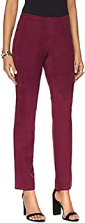 Women's Plus Size Stretch Faux Suede Pants, Deep Rose, Size 20W