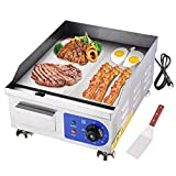 Yescom 1500W 14' Electric Countertop Griddle Flat Top Commercial Restaurant BBQ Grill
