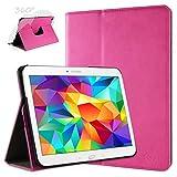 doupi Deluxe Schutzhülle für Samsung Galaxy Note Pro (12,2 Zoll), 360 Grad drehbar Tablet Etui Schutz Hülle Ständer Cover Tasche, pink
