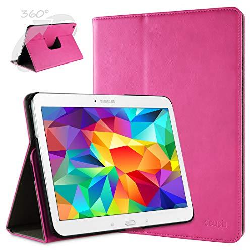 doupi Deluxe Custodia per Samsung Galaxy Tab A (9,7 Pollici), 360 Gradi Rotable Protezione con Smart Funzione Sleep/Wake Up Etui Stare in Piedi Protettiva, Pink