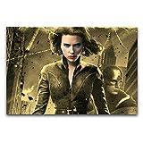 WPQL Scarlett Johansson Lucy Schlafzimmer Modern Art Poster