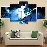 XLST 5 Piezas Impresas Concierto Metallica Poster De La Pared De La Sala HD Imágenes Decoración del Hogar Pintura,B,10X15X210X20X210X25X1