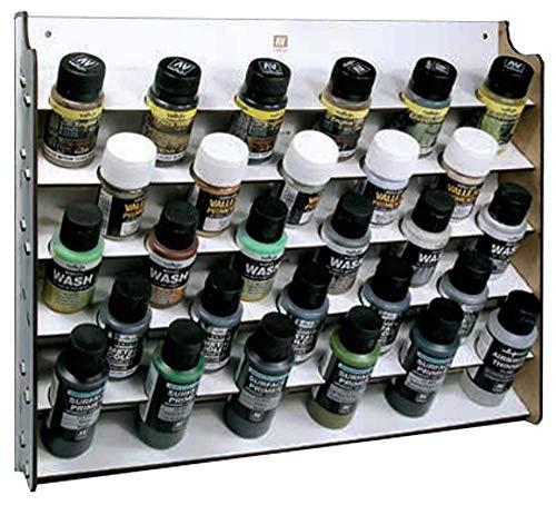 Vallejo 026009 Wandregal für Modellbaufarben für 35/60 ml, 28 Fläschchen