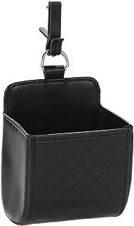 Broadroot Auto Organizer Outlet Vent Mülleimer PU Leder Handy Halter Schutt Tasche schwarz